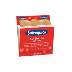 Salvequick Refill Textiel Pleisters Doos A 6 Stuks