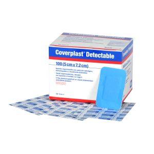 Coverplast Detecteerbaar 7.2x5cm A 100 Stuks