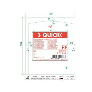 Quick Niet Verklevend Kompres 7.5×7.5cm (1/16)