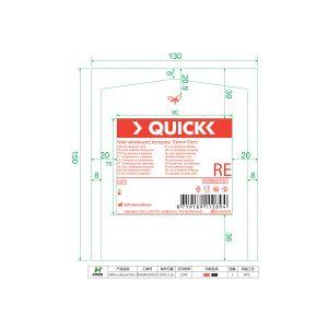 Quick Niet Verklevend Wondcompres 10x10cm