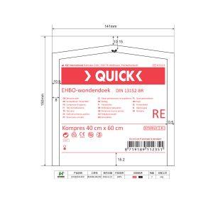 Quick Verbanddoek BR 40x60cm Steriel