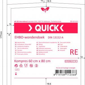 Quick Verbanddoek A 60x80cm Steriel
